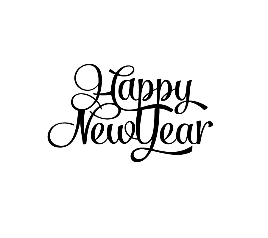 Happy New Year Stylized Type | Creative Ruckus