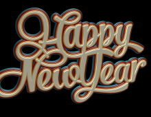 Happy New Year Stylized Type